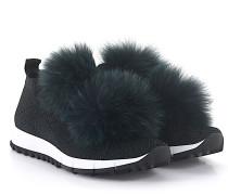 Sneaker low Norway Stretch schwarz Glitzer Fell