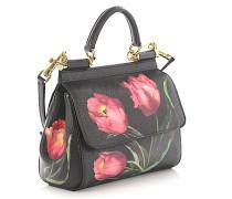 Handtasche Schultertasche Mini Sicily Leder geprägt Blumenprint