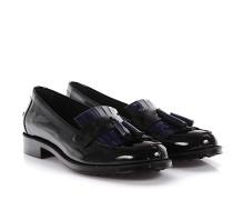 Loafer Gomma Lackleder blau schwarz