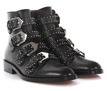 Stiefeletten Boots BE0814 Leder Nieten