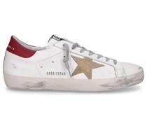 Sneaker low SUPERSTAR Kalbsleder Logo Used weiß rot