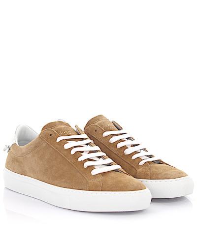 Sneaker Low Urban Street Veloursleder Leder weiß