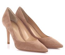 Pumps Gianvito 85 Veloursleder Praline