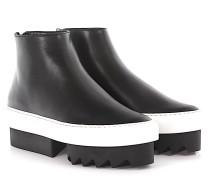 Sneakers Platform Mid Skate Leder