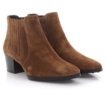 Stiefeletten Boots Veloursleder braun