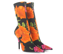 Stiefeletten Boots W05Z0 Elastic Jersey schwarz Blumenprint multicolor