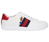 Sneaker low NEW ACE Kalbsleder Logo blau