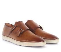 Sneaker Doppel-Monk 15021 Leder braun