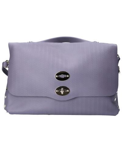 Handtasche CACHEMERE Kalbsleder Logo flieder