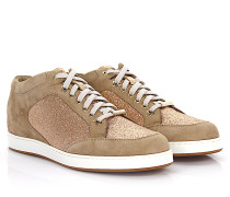 Sneakers Miami Mid Cut Veloursleder Glitzer