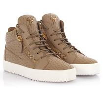 Sneakers Kriss Mid Top Leder Krokodilprägung