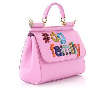 Handtasche Dolce Family Leder Logo Verzierungen geprägt