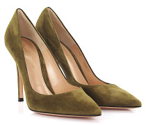 Pumps Gianvito 105 Veloursleder oliv