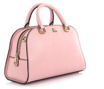 Handtasche Schultertasche BB6 Leder rosa geprägt