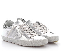 Sneaker Classic Low Leder metallic Glitzer Leder Leo Print