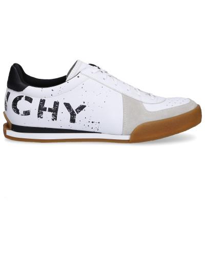 Sneaker low BH0018 Glattleder Kalbsvelours Logo