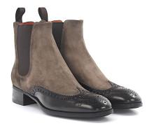 Chelsea Boots 55133 Stiefeletten Kalbsleder Veloursleder