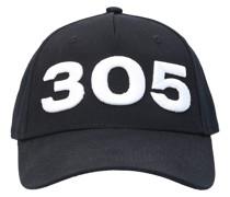 Snapback Cap 305 Baumwolle logo schwarz