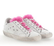 Sneaker G31WS Leder weiss Fell pink