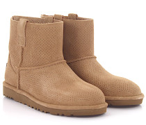 Stiefeletten Boots Classic Unlined Mini Perforation Veloursleder perforiert