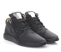 Sneaker Runner Singleg Leder Stoff camouflage