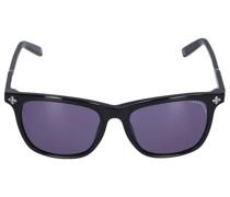 Sonnenbrille D-Frame 128103 Acetat schwarz