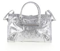 Schultertasche Handtasche CLASSIC CITY S Leder metallic