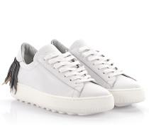 Sneaker Avenir Bombay low Leder Fransen schwarz