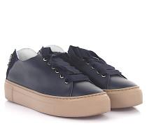 AGL Sneaker low Leder dunkel Satin Schnürsenkel