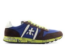 Sneaker low ERIC 4942 Veloursleder Materialmix Logo