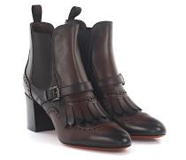 Stiefeletten Boots 56668 Leder Lyra-Lochung Fransen