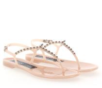Sandalen KHATA PVC rosé Nieten silber