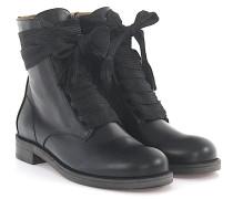 Ankle Boots IA999 Leder breite Schnürsenkel