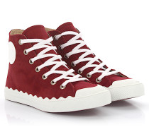 Sneaker High Kyle Veloursleder bordeaux