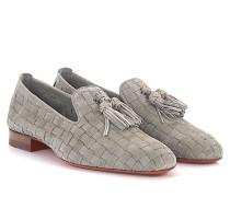 Tassel Loafer 56524 Veloursleder geflochten