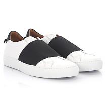 Sneaker Slip On Skate Elastic Leder schwarz