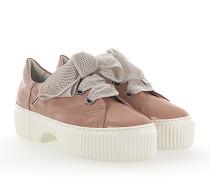 Sneaker D925095 Plateau Leder rosè glänzend