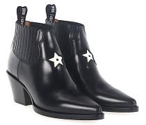Stiefeletten Boots L.A Leder Sternenprint