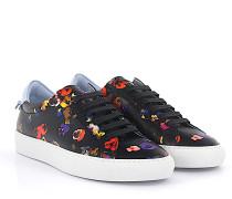 Sneaker Low Leder mulitcolor Blumenmuster