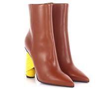 Stiefeletten Boots Bistrot Leder braun Absatz Leder gebunden