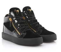 Sneaker high Kriss Samt Lackleder