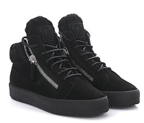 Sneaker May Mid Top Veloursleder Lammfell