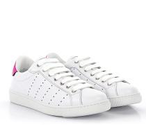 2 Sneaker Santa Monica Leder weiss Fuxia