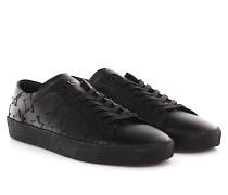 Saint Laurent Sneakers Low Top Sl/06 Leder schwarz Sternenverzierung