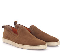 Sneaker Slip On 15511 Veloursleder braun