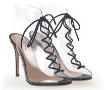Ankle Boots HELMUT PVC transparent Nappaleder schwarz