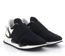 Slip-On Sneaker RUNNER ELASTIQUE Veloursleder schwarz Stoff Lackleder weiss
