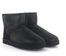 Stiefeletten Boots CLASSIC MINI Veloursleder finished Lammfell