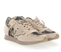 Sneaker TROPEZ Veloursleder Nylon camouflage Leder schwarz