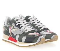 Sneaker PARADIS Leder camouflage Glitzer silber Kolibri Patch